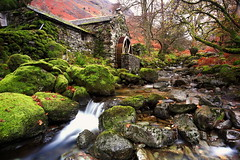 combe gill water mill (jeff.dugmore) Tags: england britain uk europe cumbria lakedistrict borrowdale combegill watermill water stream gill trees rocks longexposure green moss autumn fell colour hue mountainside hillside waterwheel hillwalking canon nisi outside outdoors nature serene rural beautiful scenic tranquil landscape peaceful picturesque countryside red building waterfall wideangle nationalpark lakedistrictnationalpark britishnationalpark