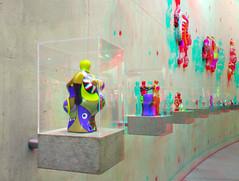 Sculptures by Niki de Saint Phalle 3D (wim hoppenbrouwers) Tags: sculptures nikidesaintphalle 3d anaglyph stereo redcyan beeldenaanzee