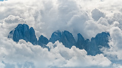 Cloud Symphony in Blue... (Ody on the mount) Tags: anlässe berge blau dolomiten em5ii gipfel gröden grödnertal himmel langkofel langkofelgruppe mzuiko40150 omd olympus südtirol urlaub wanderung wolken blue clouds mountains peaks sky stulrichingröden bozen italien