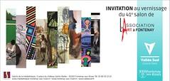 Invitation vernissage (Serge Barès) Tags: 41èmesalonlartàfontenay sergebarès mediathèquedefontenayauxroses fontenayauxroses fujixpro1 exposition