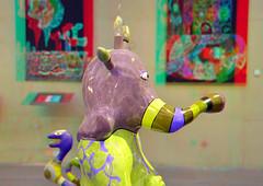 Elefant by Niki de Saint Phalle 3D (wim hoppenbrouwers) Tags: anaglyph stereo redcyan beeldenaanzee nikidesaintphalle 3d olifant art kunst baz elefant