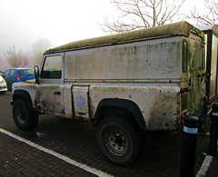 a very mouldy - '97 Land Rover Defender 110 (John(cardwellpix)) Tags: ~ 6887 very mouldy 97 land rover defender 110 guildford surrey uk