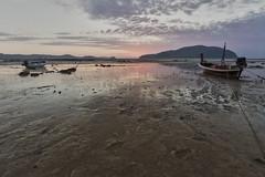 Phuket Island – Low tide (Thomas Mulchi) Tags: sea sky clouds sunrise thailand boats island dawn boat sand phuket longtailboat daybreak 2018 phuketisland lowtide changwatphuket tambonrawai happyplanet asiafavorites