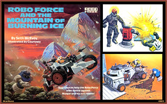 Robo Force and the Mountain of Burning Ice  1985 (StarRunn) Tags: roboforce randomhouse storybook space toy robots sf sciencefiction childrensbook 1980s courtney actionfigure