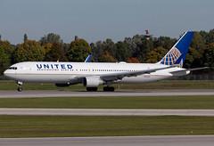 N644UA United B763 (twomphotos) Tags: plane spotting eddm muc rwy26r united boeing b763