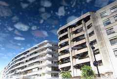 Ground Floor (andressolo) Tags: reflection reflections reflejos water agua town city urban building buildings ground pavement composition vigo