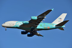 """HiFly Airbus A380, """"Save the Coral Reefs"""" (geomaret) Tags: airbus athens airport lgav airplane landing aircraft 9hmip a380 hifly savethecoralreefs special livery mirpuri foundation akzonobel afs dx nikkor 18105mmf3556gedvr"""