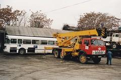 KamAZ-4310 Crane Truck 6x4 Zagreb Croatie Hrvatska 1997a (mugicalin) Tags: croatie croatia hrvatska kroatien croazia хрватска хорватия хърватия croacia horvátország κροατία kroatië camion truck lkw russiantruck camionrusse jauneetrouge redandyellow yellowandred kamaz kamaz4310 6x6 6x6truck camion6x6 triaxle triaxletruck camion3essieux saviembus saviems45 s45 années90 1997 zg zagreb equilibre camiongrue crane truckcrane 10fav associationequilibre 20fav