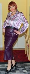 Birgit029819 (Birgit Bach) Tags: skirt rock fauxleather kunstleder blouse bluse