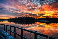 Fire & Ice. (Igor Danilov Philadelphia) Tags: lake bucks county pennsylvania sunrise fire