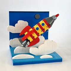 Vintage space rocket toy vignette (barneius industries) Tags: lego moc space rocket toy vintage