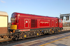20142 Class 20 'Sir John Betjeman' (Roger Wasley) Tags: 20142 class20 sirjohnbetjeman birmingham moorstreet station diesel locomotive londontransport englishelectric type1 train engine heritage vintagetrains polarexpress