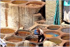 On les foule avec les pieds....à la mode à la mode... (philippedaniele) Tags: souk tanneurs tanneries cuves trempage lavage teintures séchage peaux maroc soukdestanneurs fabuleuse