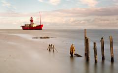 Old-Lightship- (petefoto) Tags: lightship old posts sea grass red clouds essex highwater nikond810 lee09sgrad saltmarsh tollesbury marina
