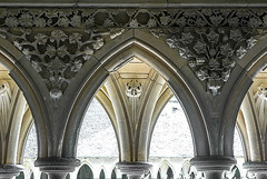D3880-Arcos del claustro (Mont Saint Michel) -I- (Eduardo Arias Rábanos) Tags: fredarron eduardoarias eduardoariasrábanos arquitectura architecture fotoarquitectura architecturephotography claustro cloister gótico gothic artegótico gothicart gothicstyle arcos archs arcoapuntado panasonic lumix g6