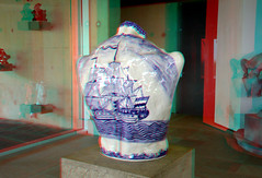 Ceramics by Adriaan Rees  Beelden aan Zee 3D (wim hoppenbrouwers) Tags: ceramics adriaanrees beeldenaanzee 3d anaglyph stereo redcyan delftware delftsblauw art kunst
