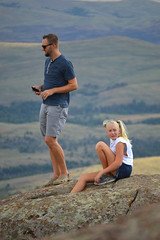 Ready to get out of the wind while balancing on rocks (radargeek) Tags: september 2018 ok oklahoma mountscott wichitamountains refuge kid kids child children