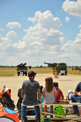 Enjoying the day together (radargeek) Tags: airshow henrypostarmyairfield fortsill september 2018 ok oklahoma clouds sky kid kids child children