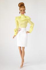 Soft Yellow (*SquishTish*) Tags: clothes fashion doll style outfit miniature squishtish mirmaiddolls poppyparker mayheminmontecarlo repainted repaint pencilskirt blouse