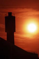 Suburb sunrise (hbensliman.free.fr) Tags: travel architecture france urban city europe pentax pentaxart sunrise chimney