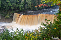 Upper Tahquamenon Falls (Kirk Stauffer) Tags: kirk stauffer photographer nikon d5 great lakes lake superior water marine wet waterfall nature beautiful maritime up united states falls color colour autumn trees rocks boulders stones sand descend vertical ledge height high tall low short narrow wide falling cascade drop down bottom flow stream river riverbed upstream downstream shallow deep base county natural course landscape rain snowmelt watershed velocity edge erode erosion carve recede form canyon gorge shelf undercut geology geological october 2019