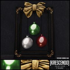 [Kres] Festive Frame ([krescendo]) Tags: kres krescendo secondlife sl christmas festive