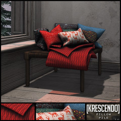 [Kres] Pillow Pile ([krescendo]) Tags: kres krescendo secondlife sl christmas festive