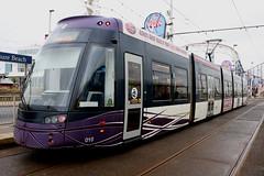 Blackpool Transport Trams: 010 Pleasure Beach (emdjt42) Tags: bombardier flexity 010 blackpooltransporttrams blackpool pleasurebeach