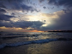 Clouds and Waves, Istanbul (gozdehanozturk) Tags: cloud sea waves sun sunset landscape blue sky istanbul photography