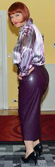 Birgit029821 (Birgit Bach) Tags: skirt rock fauxleather kunstleder blouse bluse
