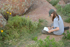 The artist and his subject (radargeek) Tags: september 2018 ok oklahoma mountscott wichitamountains refuge family sketching