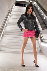 325 (ZoeLinda) Tags: tgirl trans tranny transgender drag dragqueen lindazoe heels highheels nylons pantyhose pink crossdresser