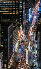 Fifth Avenue (20191129-DSC01457-Edit) (Michael.Lee.Pics.NYC) Tags: newyork fifthavenue aerial night street traffic peninsulahotel rooftop cartier saksfifthavenue architecture cityscape sony a7rm4 fe24105mmf4g