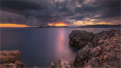 Autumnal sunset # 2 (Tonino A) Tags: coucher tramonto cap antibes rochers nuages ciel cielo sky clouds sunset fujixh1 14mm côte dazur provence nuvole nwn nubes longexposure poselongue elitegalleryaoi bestcapturesaoi aoi exquisitesunsets reflets reflections riflessi