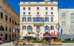 Castille Hotel, Castille Square, Valletta, Malta (Peter.Stokes) Tags: 2019 awayfromitall buildings coast coastline colour colourphotography cruise2019 europe landscape malta mediteranian outdoors photo photography sea sky vacation architecture castillesquare valletta