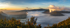 four quartets & no regrets (on islands) Tags: mountbromo bromotenggersemerunationalpark sunrise landscape seaofclouds indonesia volcano crater