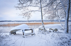 winter haven (@Tuomo) Tags: ilce7rm3 finland muuratsalo päijänne winter lake snow ica boat haven landscape wideangle beautiful sony a7r3 sel1635gm