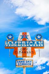 American (Thomas Hawk) Tags: america americandrycleaners usa unitedstates unitedstatesofamerica wyoming clouds drycleaner neon neonsign lander fav10 fav25 fav50 fav100