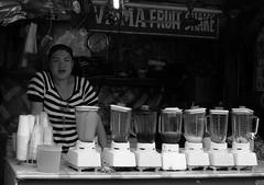 Virmas Fruit Shake (Beegee49) Tags: street people woman drinks fruit shake blackandwhite monochrome sony nex bacolod city philippines asia happyplanet asiafavorites