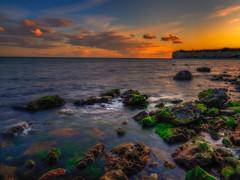 Sunset at Stevns Klint (ibjfoto) Tags: danmark denmark ibjensen ibjfoto natur selsø sjælland stevnscliff stevnsklint sunset vand zealand solnedgang water