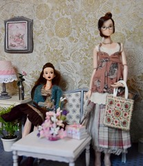 Here for a Visit (Girl Least Likely To) Tags: momoko closeclippedsheep ccs asianfashiondolls dolls diorama dollhouse dollscene dollroom miniatures livingroom smallworlds toys