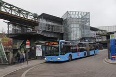 Mercedes-Benz Citaro O 530 G C2  WSW 1274 met kenteken W-SW 1274 als lijn 608 naar Wuppertal Langerfeld in bus station Wuppeltal Bahnhof 09-11-2019 (marcelwijers) Tags: mercedesbenz citaro o 530 g c2 wsw 1274 met kenteken als lijn 608 naar wuppertal langerfeld bus station wuppeltal bahnhof 09112019 coach autobus gelenkbus öpnv germany deutschland duitsland