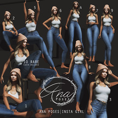 Ana Poses - Insta Girl for Arcade December (Fanny Finney) Tags: arcade secondlife poses instagram inspired ana