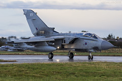 Royal Air Force, Tornado GR4, ZA365 / 001. (M. Leith Photography) Tags: raf lossiemouth moray scotland royal air force jet panavia tornado gr4 sunshine side aviation photography mark leith nikon lossie grass cockpit sky aircraft airplane