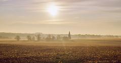 025152a  The Dawn Of A New Day In Allegan County (David G. Hoffman) Tags: sunrise fog fall fallcolors farm fields sundaylights