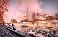 The reconstruction (Ro Cafe) Tags: paris notredame church river seine boats city cityscape urban autumn travel nikkor1424mmf28 sonya7iii