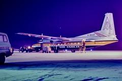 Air Anglia Fokker F 27 (GJC1) Tags: fokker friendshipf27 nightnorwichairport snow geoffcollins gjc1 hdr
