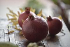 Pomegranates from our tree (Zara Calista) Tags: pomegranates fruits california west coast bokeh nikon home 14 50mm art