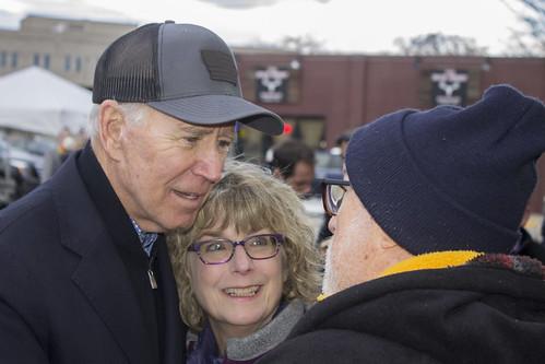 Biden hugs fan