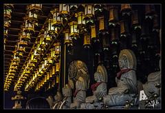 10ème jour / 10th day - Intérieur du temple / Temple indoor - Daisho-in - Miyajima (christian_lemale) Tags: daishoin temple miyajima japon japan nikon d7100 lanternes lanterns statues 宮島 日本